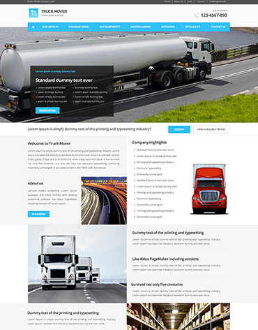 Direct Web Design - Truck Mover