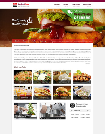 Direct Web Design - Fast Food Store