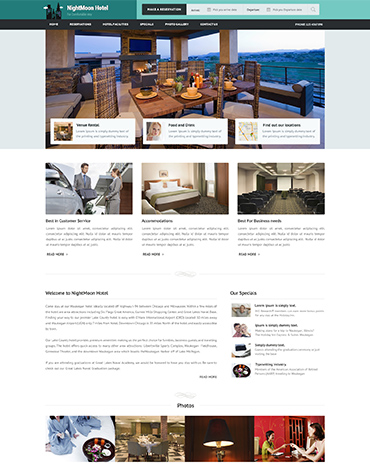 Direct Web Design - NightMoon Hotel