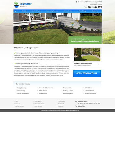 Direct Web Design - Landscape