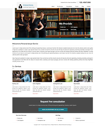 Direct Web Design - Personal Lawayer Service