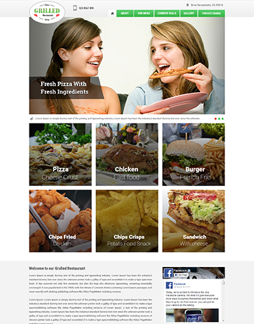 Direct Web Design - Girlled Restaurant