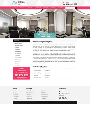 Direct Web Design - BrightIdea Lighting