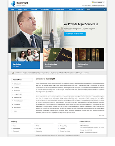 Direct Web Design - Blue Knight Associate lawyers
