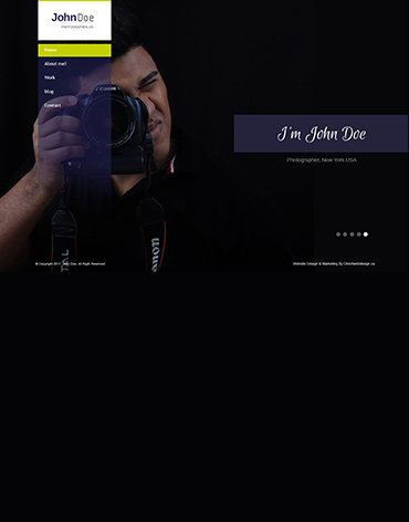 Direct Web Design - John Doe Photographer Website