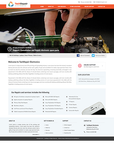 Direct Web Design - TechRepair Electronics