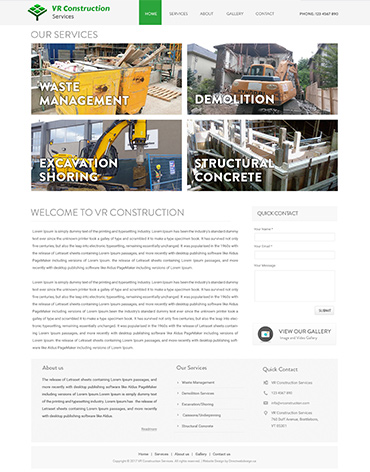 Direct Web Design - VR Construction Services