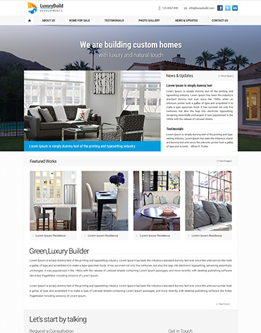 Direct Web Design - LuxuryBuild Developments