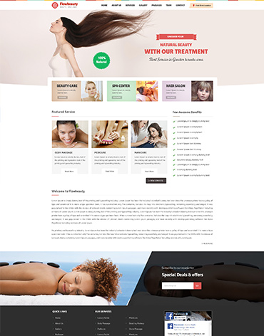 Direct Web Design - Flow Beauty Parlour