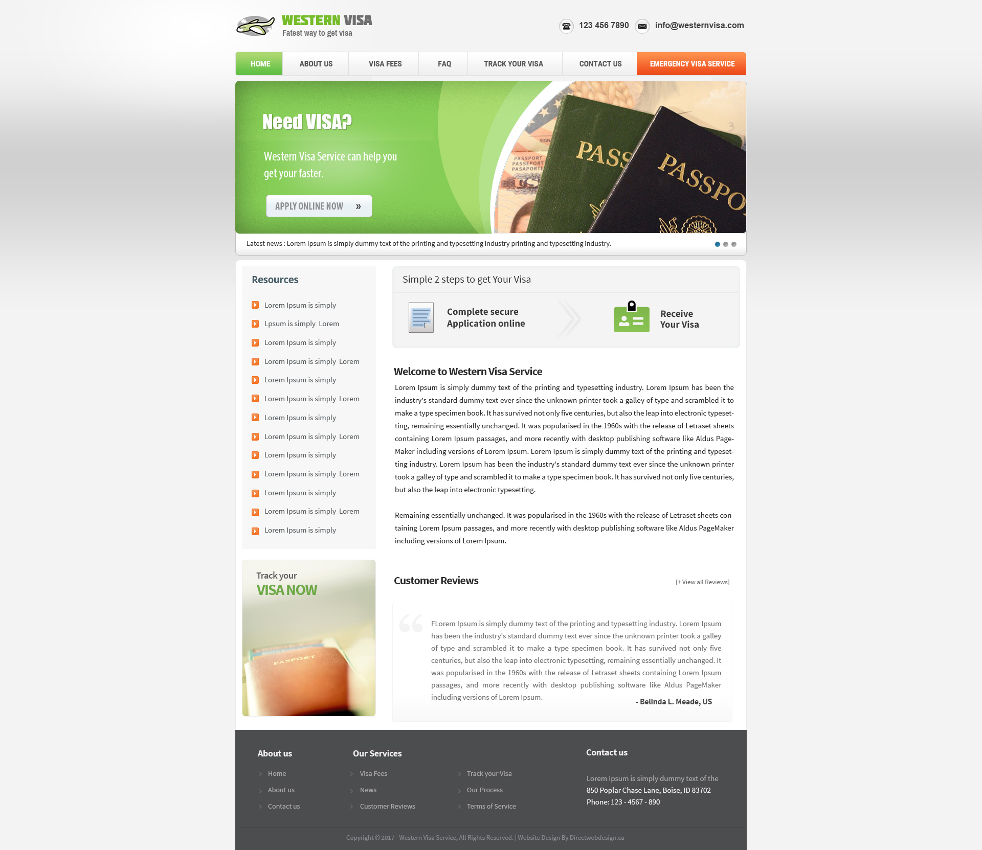Unique Customizable Website Templates Direct Web Design - About us template for website