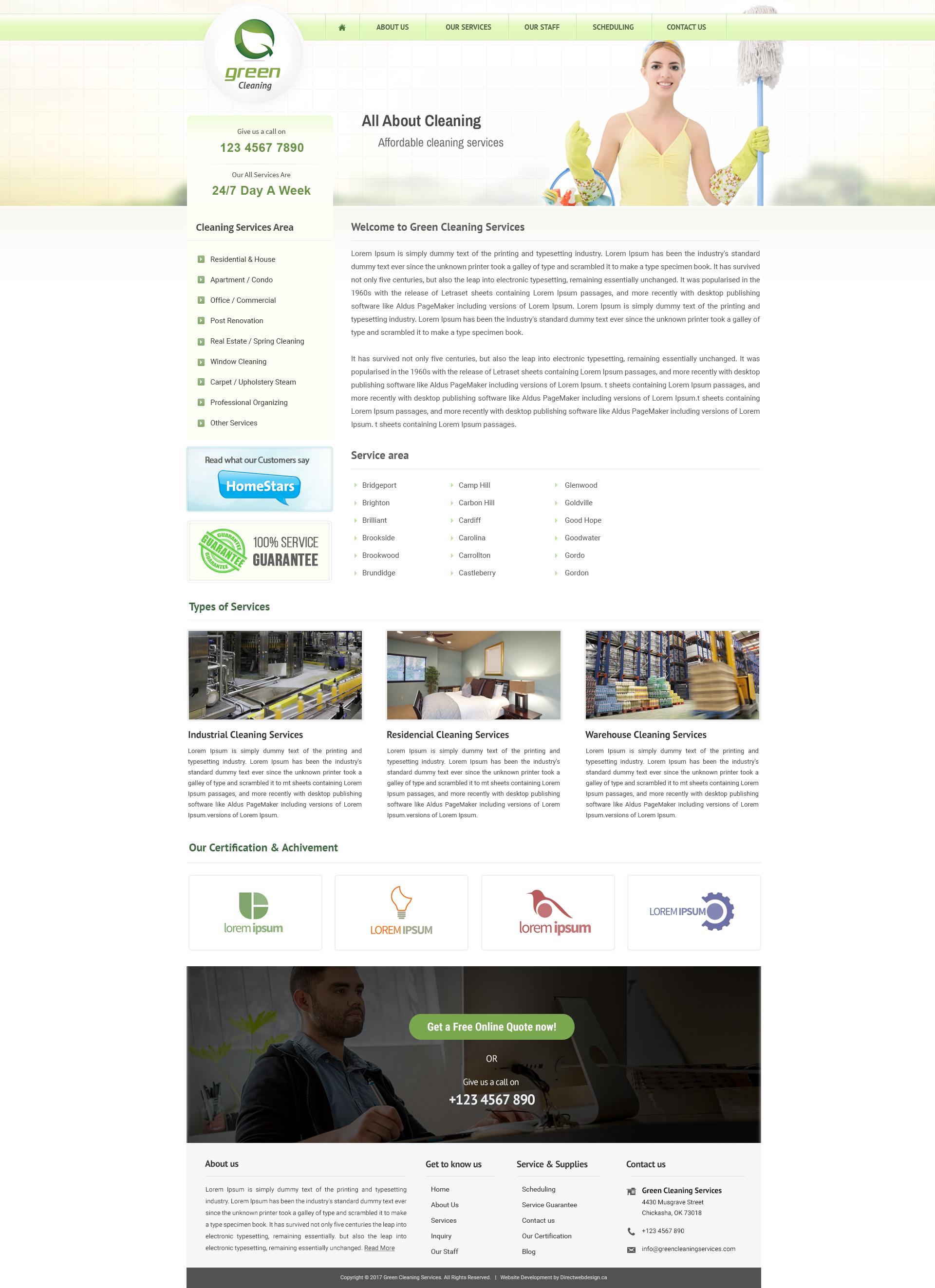 Unique customizable website templates | Direct Web Design