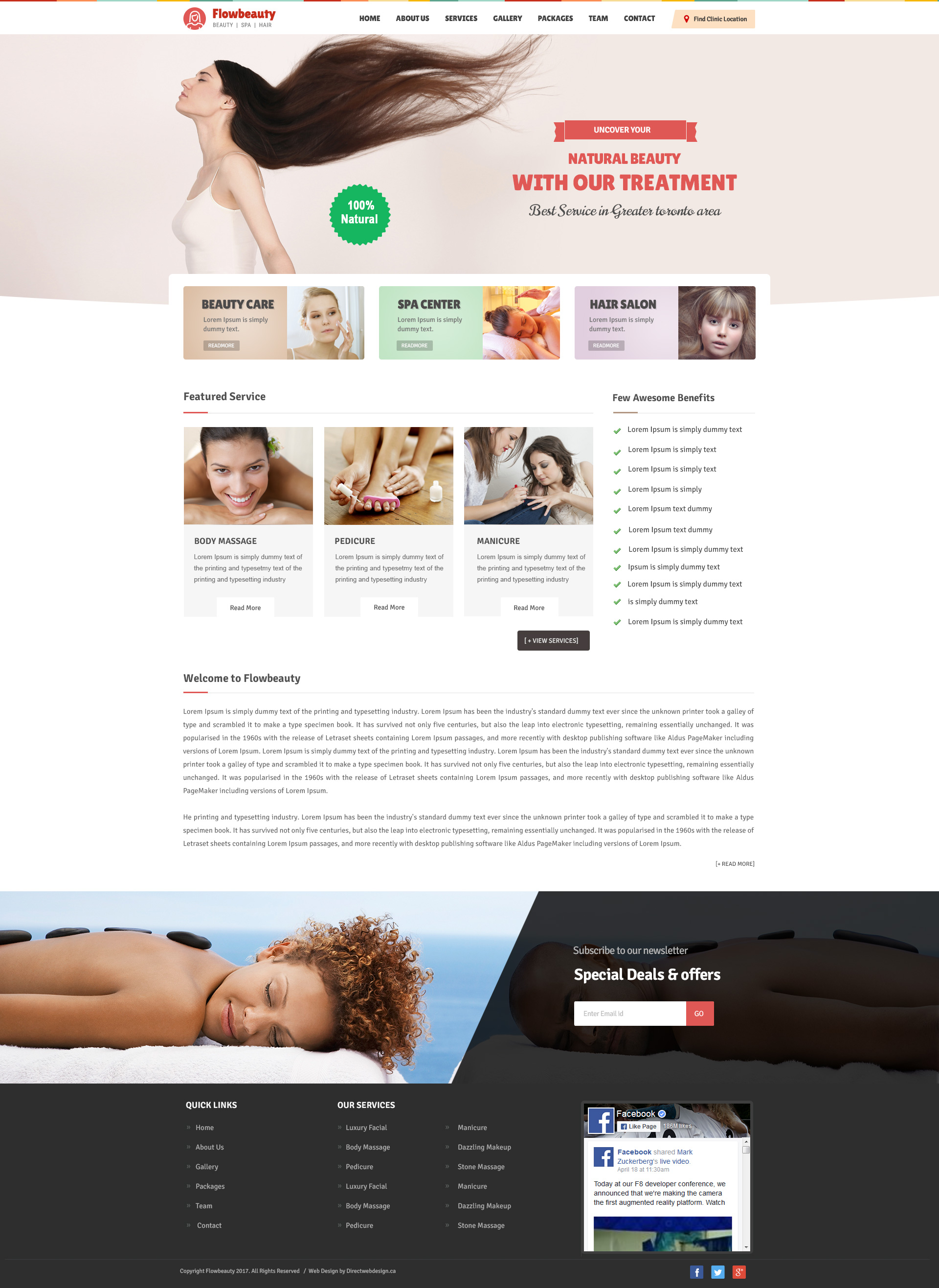 Modern massage website template image collection example for Direct from the designers
